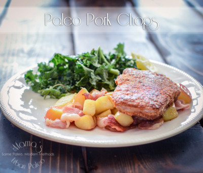 Paleo Pork Chops Revived by Mama's Urban Paleo
